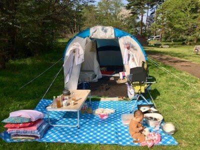 テントとキャンプ用品