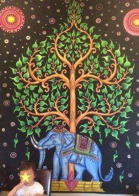 【マヤ】店内の曼荼羅画