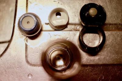 きれいになった水筒の部品