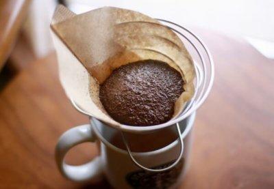お湯を注いだ時のコーヒーの粉のふくらみ