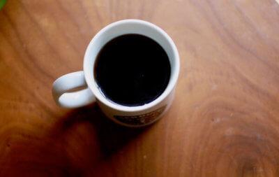 出来上がりのコーヒー