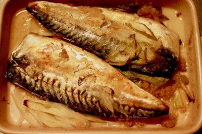 グリラーで焼いた鯖