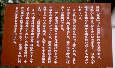 弥彦神社の立て看板