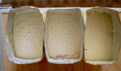 3つの自家製豆乳ヨーグルトを並べた画像