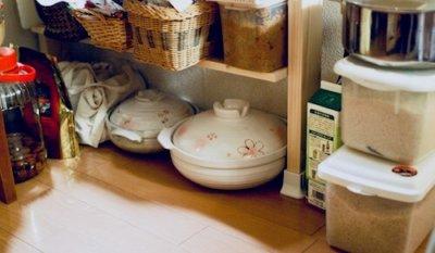 キッチンの鍋収納