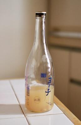 瓶に入れた納豆菌水