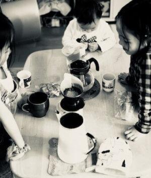 コーヒーを飲む準備の画像