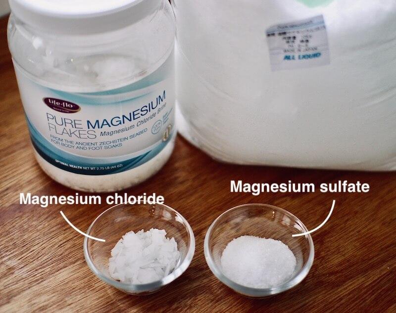塩化マグネシウムと硫酸マグネシウム